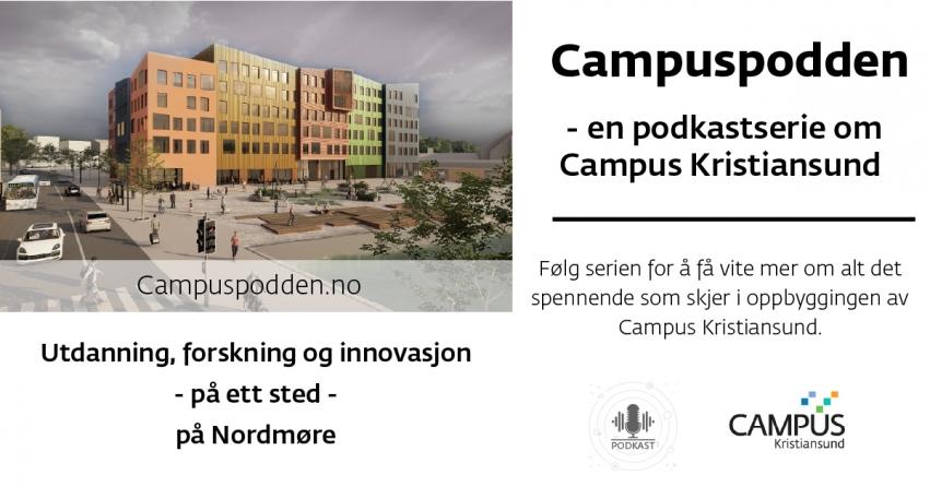 Plakat som beskriver campuspodden